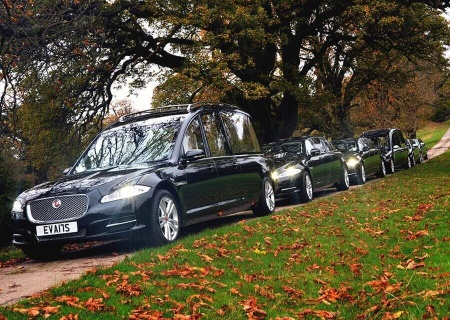 M G Evans Sons Family Funeral Directors Fleet of Funeral Vehicles