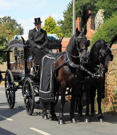 M G Evans Sons Family Funeral Directors Horse-Drawn Carriage