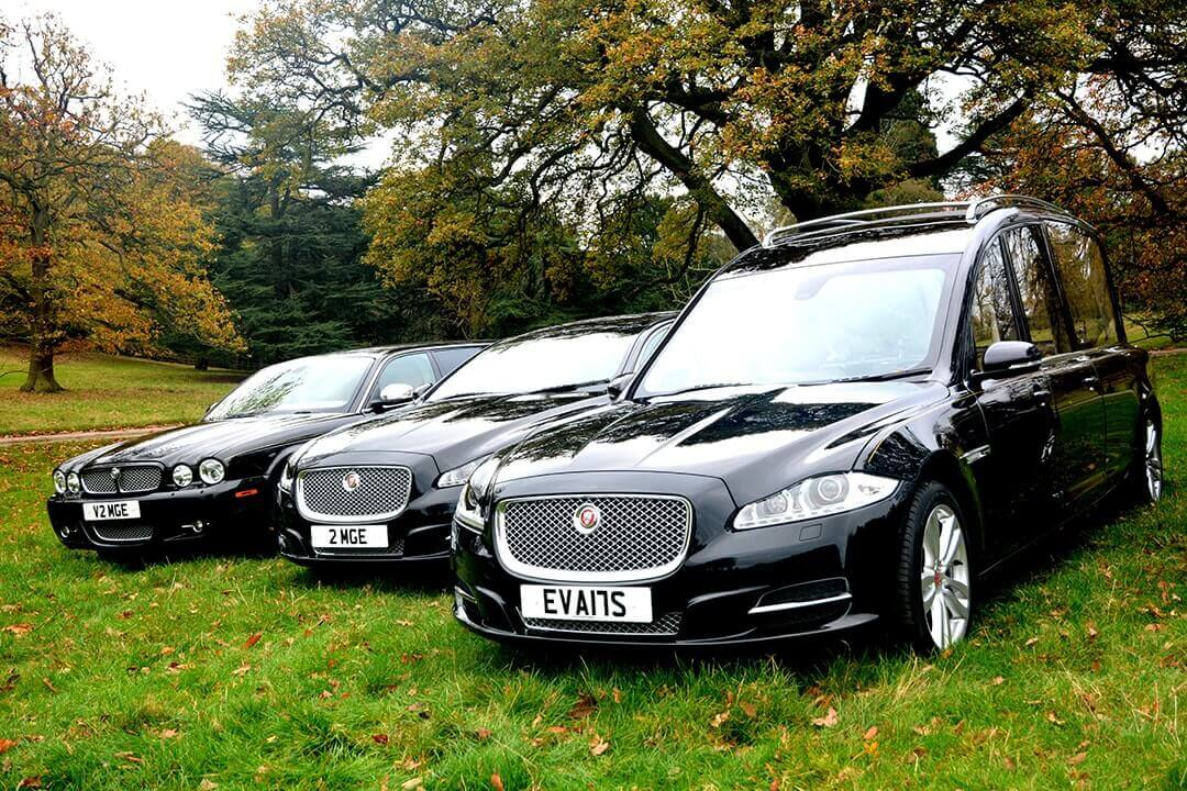 M G Evans Funeral Directors Jaguar Fleet Vehicle