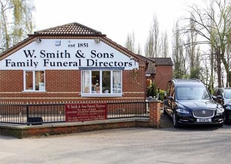 M G Evans Sons Family Funeral Directors Nuneaton Funeral Home Office