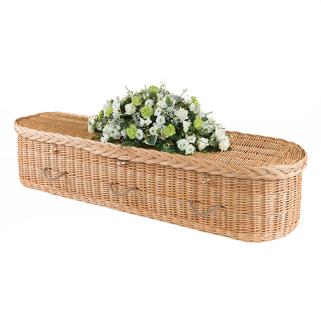 M G Evans Funeral Directors The Wicker Coffin Curved